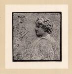 Bas-relief portrait of John Howard Payne as a boy