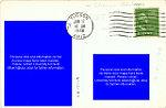 Carnegie Free Library, Tucson, Arizona - Back of Postcard