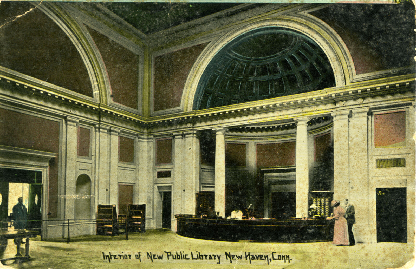 Interior of New Public Library, New Haven, Connecticut