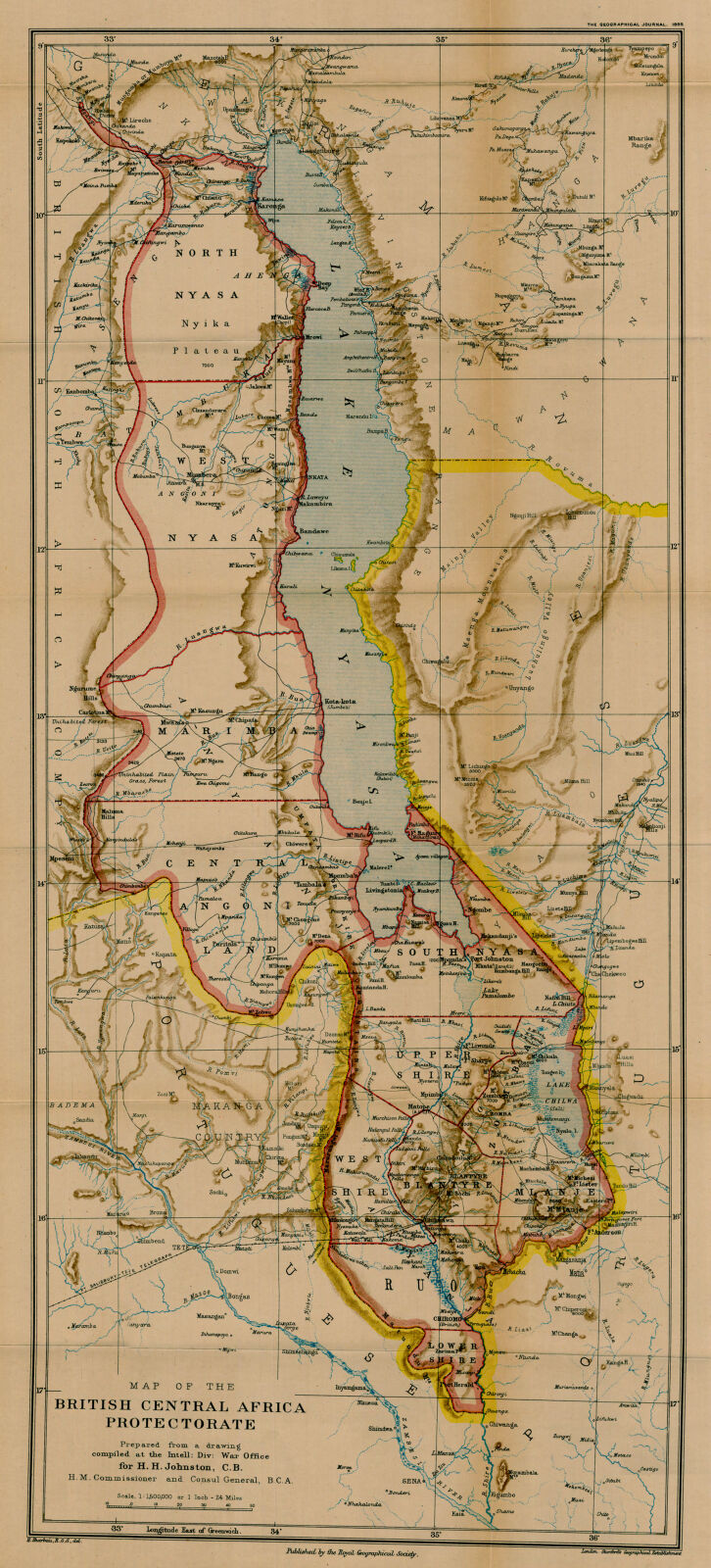 Map of the British Central Africa Protectorate. | Digital