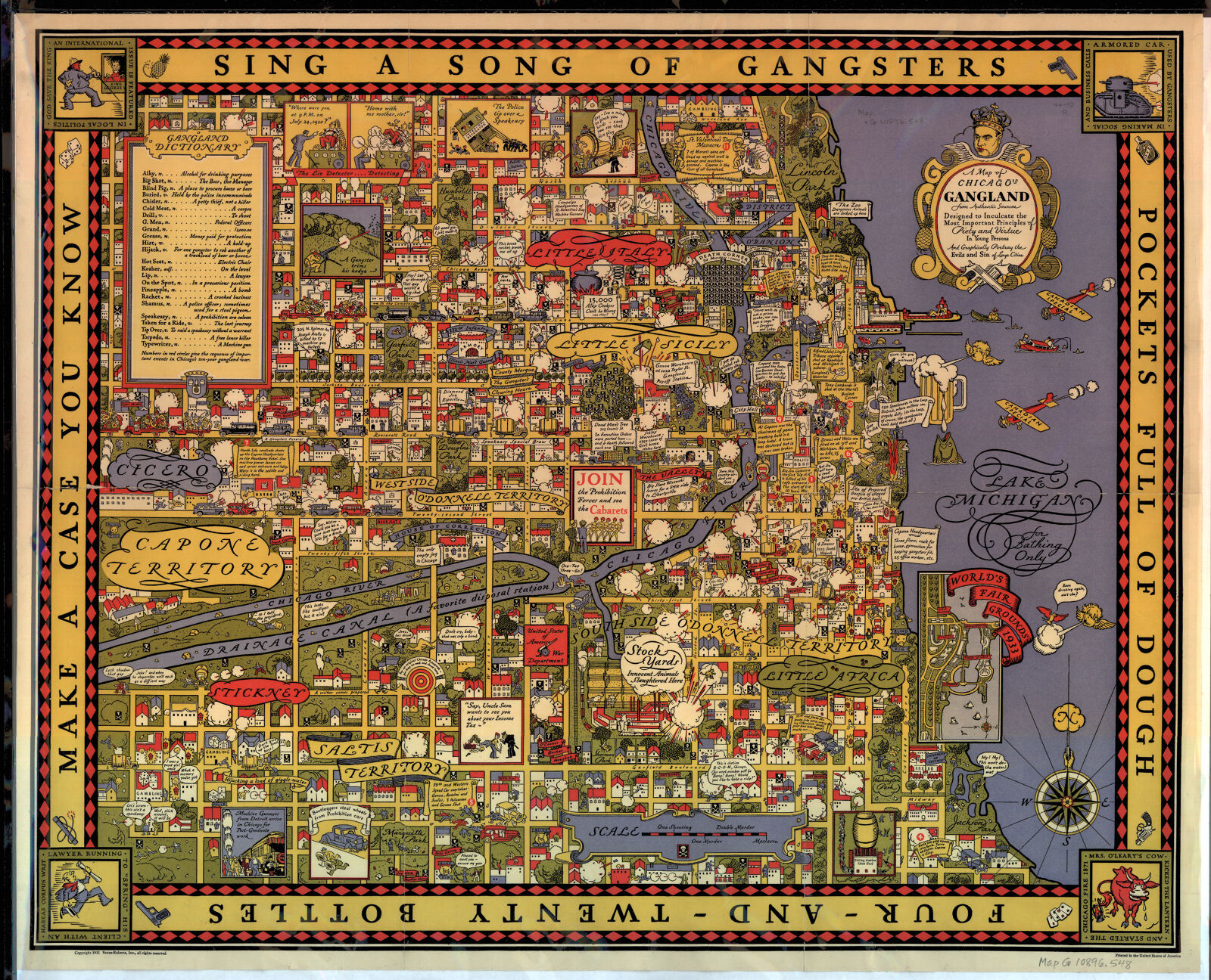 Historical maps online digital collections at the university of a map of chicagos gangland from authentic sources designed to inculcate the most important principles of piety and virtue in young persons gumiabroncs Gallery