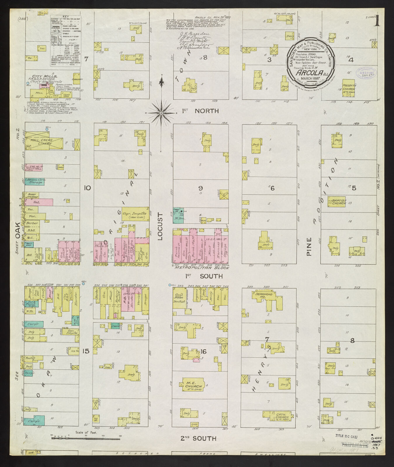 Arcola Illinois March 1887 Digital Collections At The University