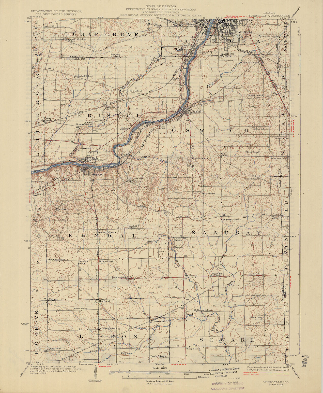 Bristol Illinois Map.Illinois Yorkville Quadrangle Digital Collections At The