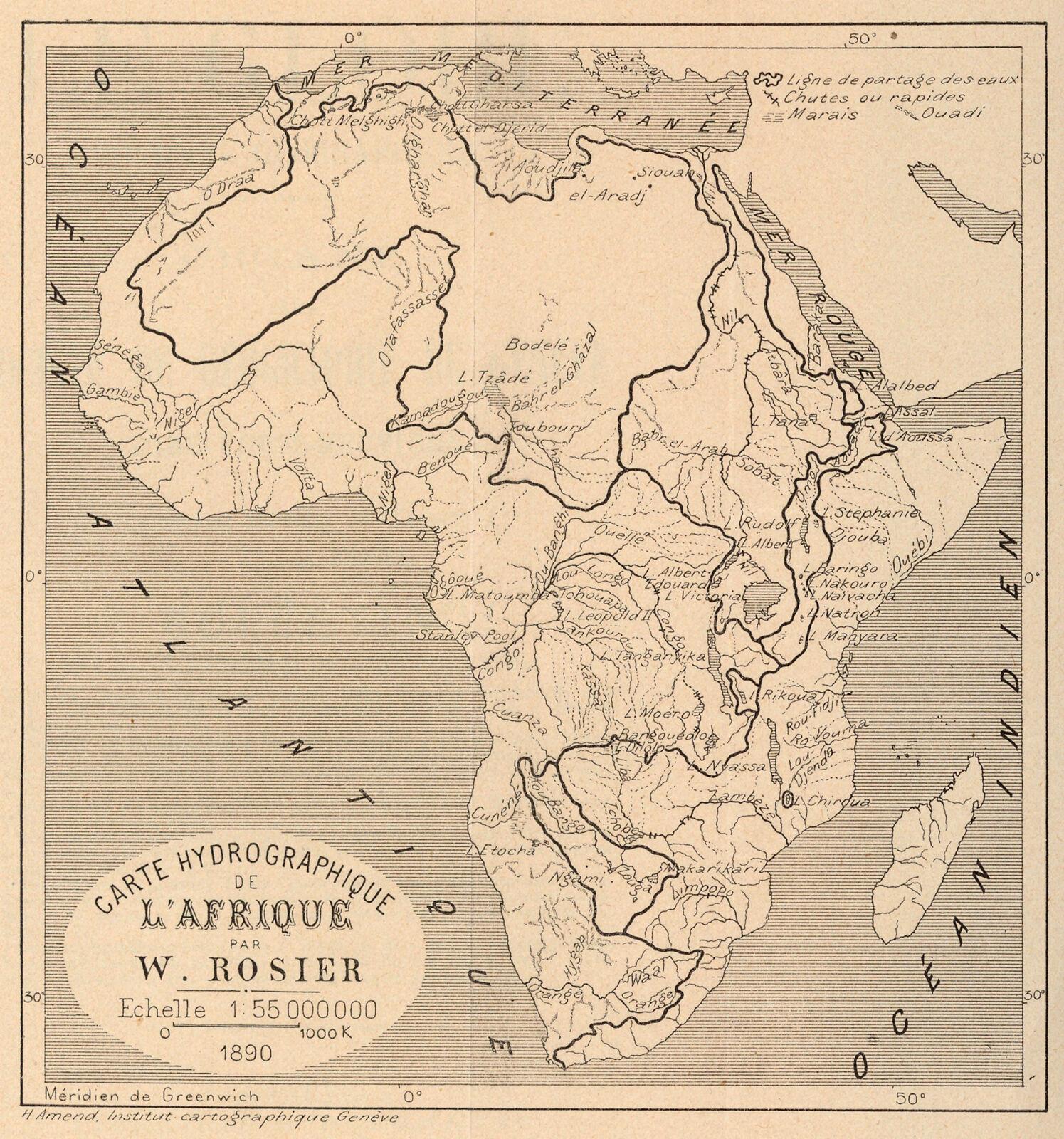 Carte De Lafrique Hydrographie.Carte Hydrographique De L Afrique Digital Collections At