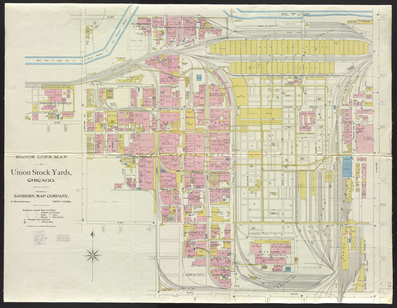 Block Line Map Of Union Stock Yards Chicago Digital Collections