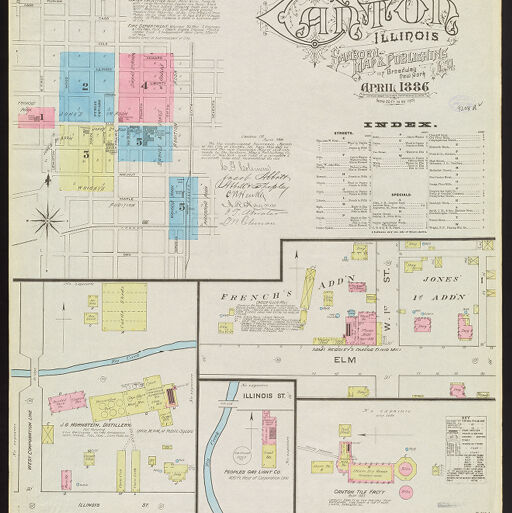 Sanborn Fire Insurance Maps Digital Collections At The University Of Illinois At Urbana Champaign Library