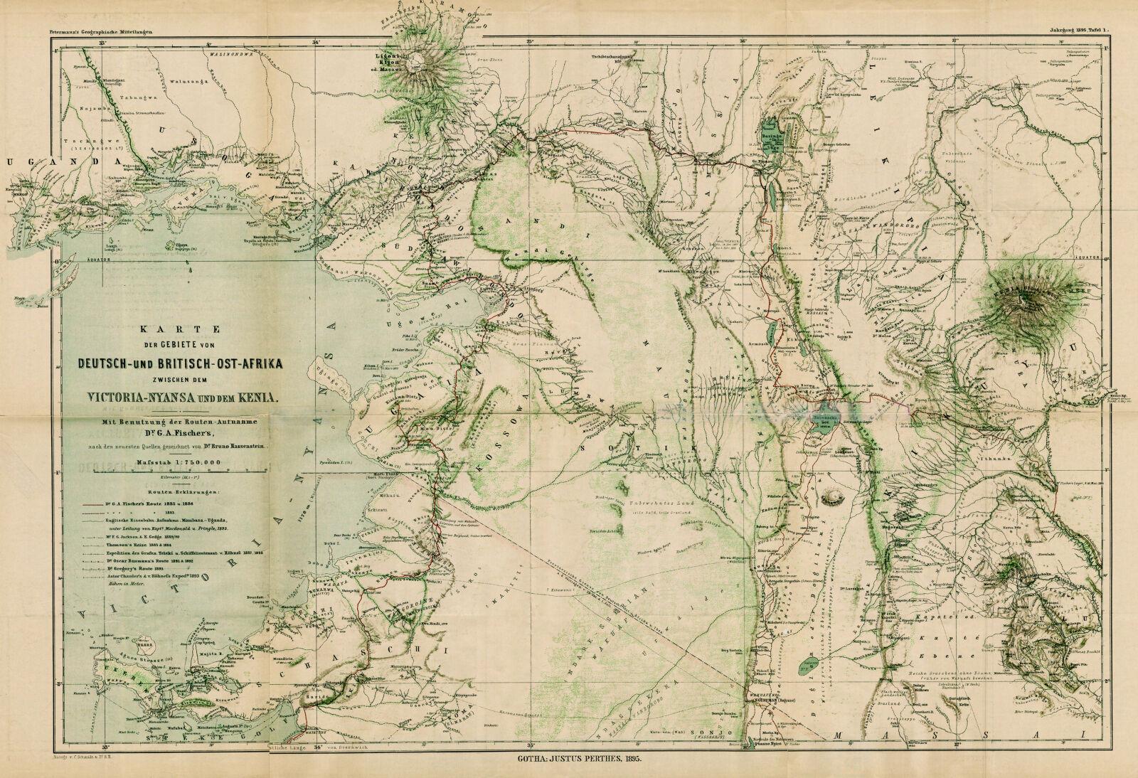 Afrika Karte Deutsch.Karte Der Gebiete Von Deutsch Und Britisch Ost Afrika Zwischen Dem