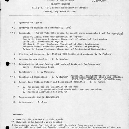 Faculty Minutes (Digital Surrogates), 1897-1902, 1918-2008   Digital