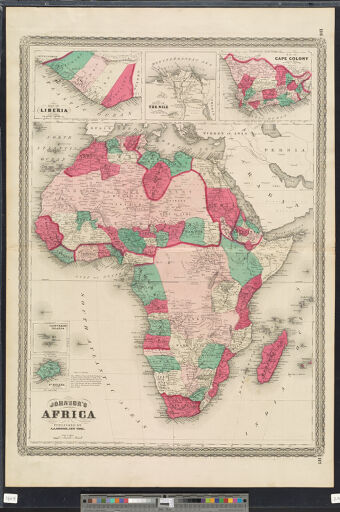 Maps of Africa to 1900 Digital Collections at the University of